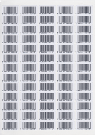 barcode label sheet
